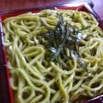 博多 藪 - 此方の蕎麦は「茶そば」だそう。 ◆ざるそば(900円)