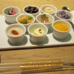 旬穀旬菜 - ランチの9種のアミューズ盛り合わせ
