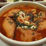 LA PLANCHA - 【2011/01】 本日の暖かいスープ(ニンニクのスープ) ¥1350