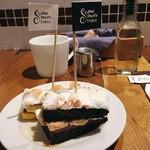 ジェイエスパンケーキカフェ - スモアパンケーキ(ブラック)@冷えています。おなかにたまる