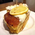 ジェイエスパンケーキカフェ - フレンチパンケーキ(レモン&チーズクリーム)@じゅんわりレモンシロップとチーズクリームがあっていて美味しかった