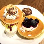 ジェイエスパンケーキカフェ - ミニパンケーキ&マシュマロ@三枚重ねの間にクリームがほしかった
