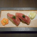 人形町今半 - ローストビーフ握り寿司 2017.2