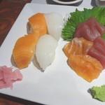 63204929 - 前菜の寿司と刺身
