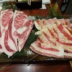民芸肉料理 はや - DX食べ放題 最初の肉