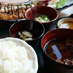 63207037 - ふもと赤鶏の黒酢南蛮タルタルランチ