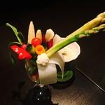 ロージア - 2/28 本日のオススメ 「彩り野菜のバーニャカウダ ブーケ仕立て」