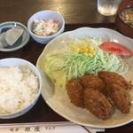喫茶 銀座 - カキフライ定食700円