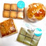 ナチュラルベーカリーカフェ - レーズンスコーン¥140、きんかんマフィン¥180 しお、抹茶サブレ各¥140