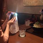 矢場CHINA - 店内暗めにつき、写真を撮るときにライトを。笑