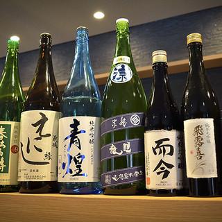 厳選された日本酒と料理の相性は抜群★