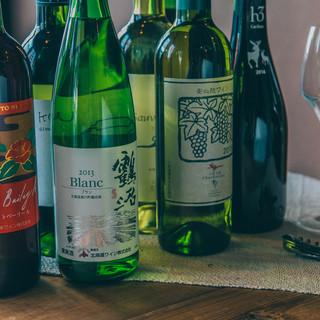 【希少な日本ワイン×日本酒】を多数ご用意♪グラスにもこだわり
