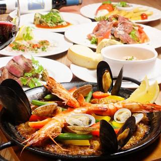 ☆特製パエリア等、本格スペイン料理をリーズナブルにご提供☆