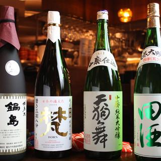 全国各地の銘酒、地酒を多数取り揃えております