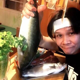 新鮮な魚介類!