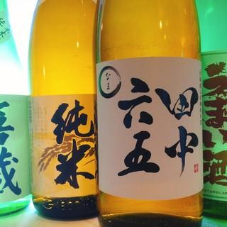地元・白糸酒造はじめ料理と相性のいい日本酒が季節ごとに揃う