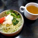 ブルドック - セットのスープ・サラダ