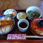 鮒彦総本舗 - ミニうな丼茶そばセット