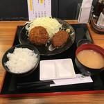 サーロイン牛かつ 池田 - Aランチセット(880円)