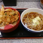 小諸そば  - かき揚げ丼セットです。(2017年2月)