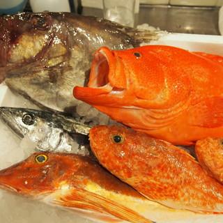 こだわりの新鮮な魚介