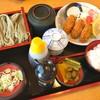 田畑屋 - 料理写真:カキフライとおそばのセット(1,450円)