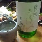 63233241 - 日本酒は半合と1合があって1合で注文