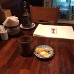 富士喜 - お茶と漬物とメニューと…
