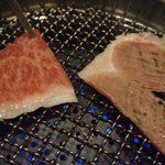 個室焼肉 こいのぼり - サーロインの焼きしゃぶ