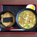 小谷食堂 - カレー中華の たまご丼セット  ¥1000