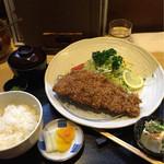 こばやし亭 - アグー豚のロースカツ定食