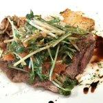 6324251 - 豚肩ロースのグリル 豆苗と水菜と人参のサラダ仕立て 3種のおそうざい付き