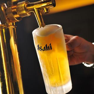 いつでも中ジョッキが380円の「生ビール」にこだわる♪