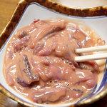 魚光 - 料理写真:自家製塩辛。