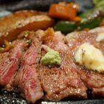 63250114 - 和牛サーロインステーキ(ライス、味噌汁、サラダ)2700円