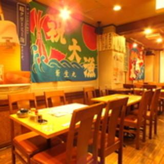 当店徒歩1分、姉妹店【たくみ食堂】産直鮮魚居酒屋。魚魚魚~♪