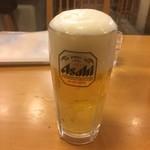 卯どん亭 - ビール…です。