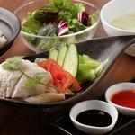 海南チキンライス(スープ、サラダ付)