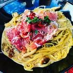 ルチェンテ - 生ハムとポルチーニ茸のクリームパスタ