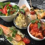 ルチェンテ - お惣菜プレートランチ