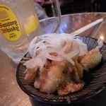 ヤキトリハウス 平安郷 - 鶏皮ポン酢