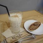 発酵デリカテッセン カフェテリア コウジ&コー - 甘酒チャイ(アイス)、福来純三年熟成本みりんのモンブラン