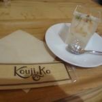 発酵デリカテッセン カフェテリア コウジ&コー - フルーツビネガーと白樺樹液のゼリー(ライチ)