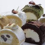門洋菓子店 - 気まぐれロール -季節限定- (抹茶・ゴマ・メープル・チョコ・黒糖・きな粉 各280yen)