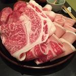 もん善別館 - しゃぶしゃぶの各種肉