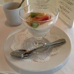 レストラン ル・クール神戸 - 氷上産ヨーグルトと季節のフルーツ 蜂蜜添え