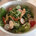 レストラン ル・クール神戸 - 地元のこだわり農家が育てた健康野菜のサラダ