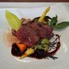 ビストロ ダイア - 料理写真:北海道白糠産 エゾジカの背ロースのロースト 黒コショウ風味の赤ワインソース