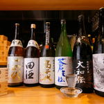 魚・炭・酒 おはし二日町 - ドリンク写真:県内中心に美味しい地酒多数