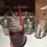 THE SMILE - ランチセットのドリンクはアイスコーヒーをチョイス。